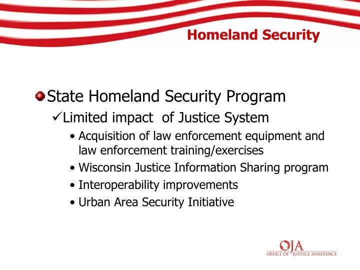 State Homeland Security Program
