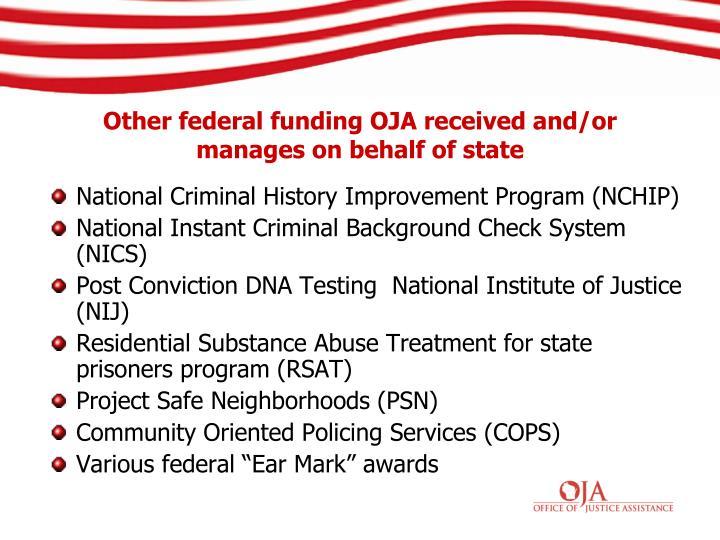 National Criminal History Improvement Program (NCHIP)