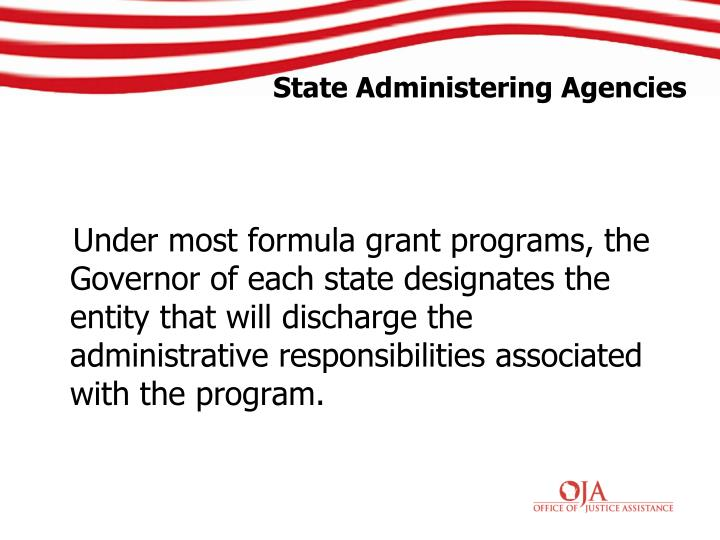 State Administering Agencies
