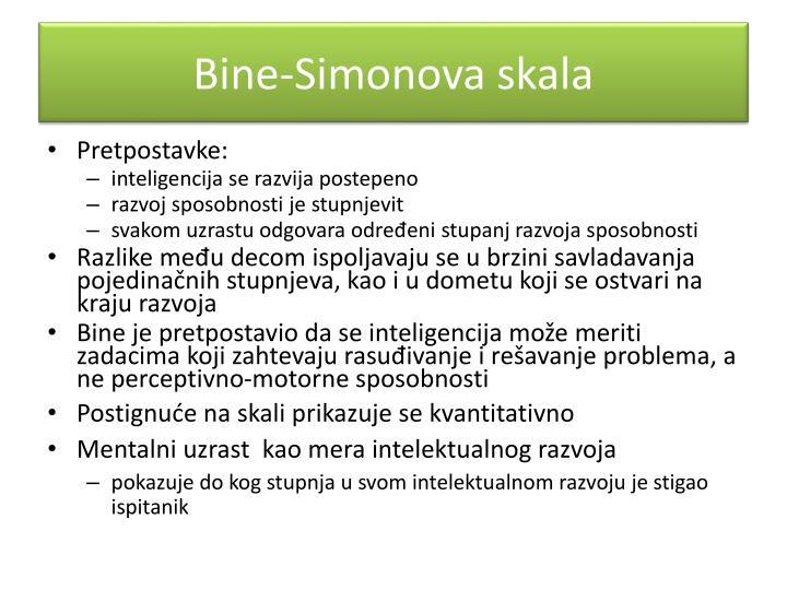 Bine-Simonova skala