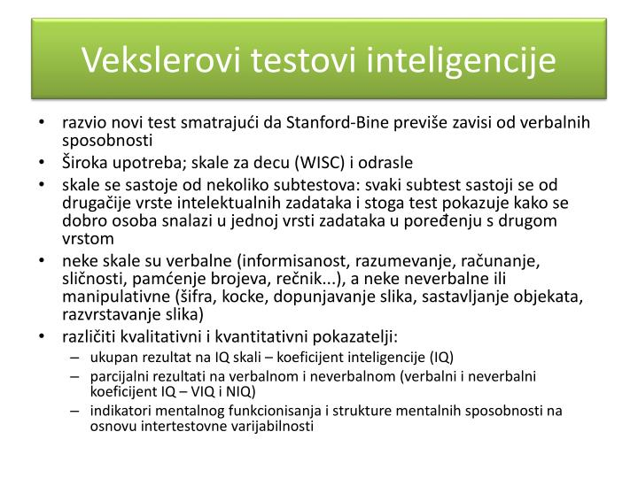 Vekslerovi testovi inteligencije