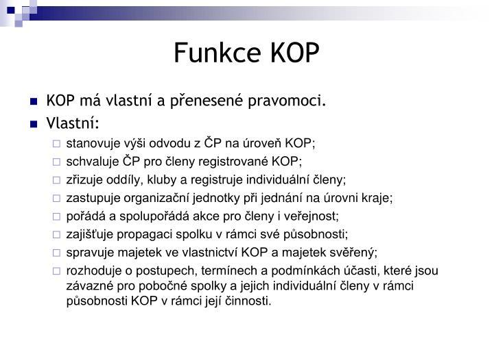 Funkce KOP