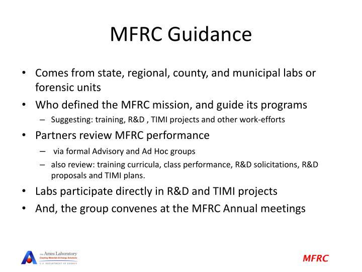 MFRC Guidance