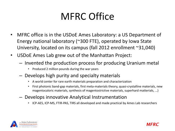 MFRC Office