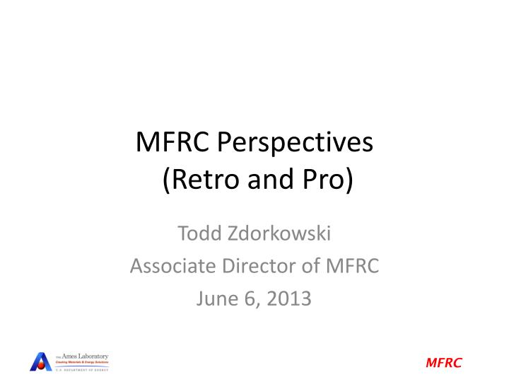 MFRC Perspectives