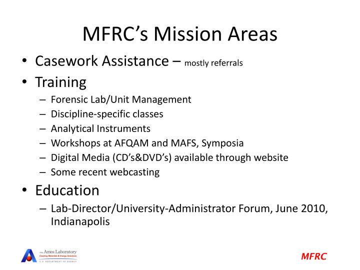 MFRC's Mission Areas