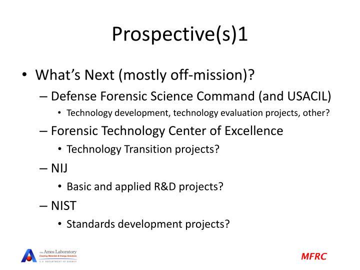 Prospective(s)1