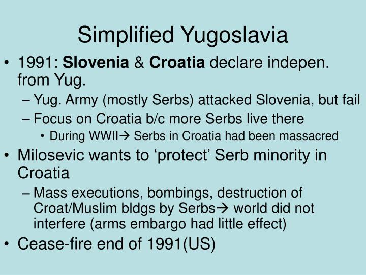 Simplified Yugoslavia