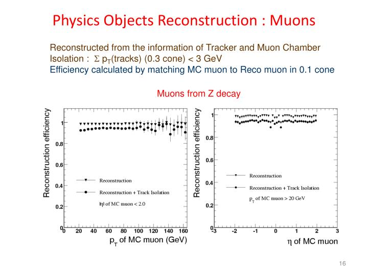 Physics Objects Reconstruction : Muons