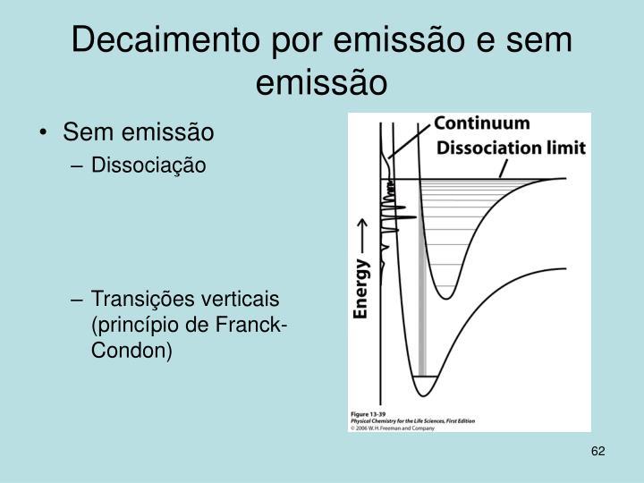 Decaimento por emissão e sem emissão