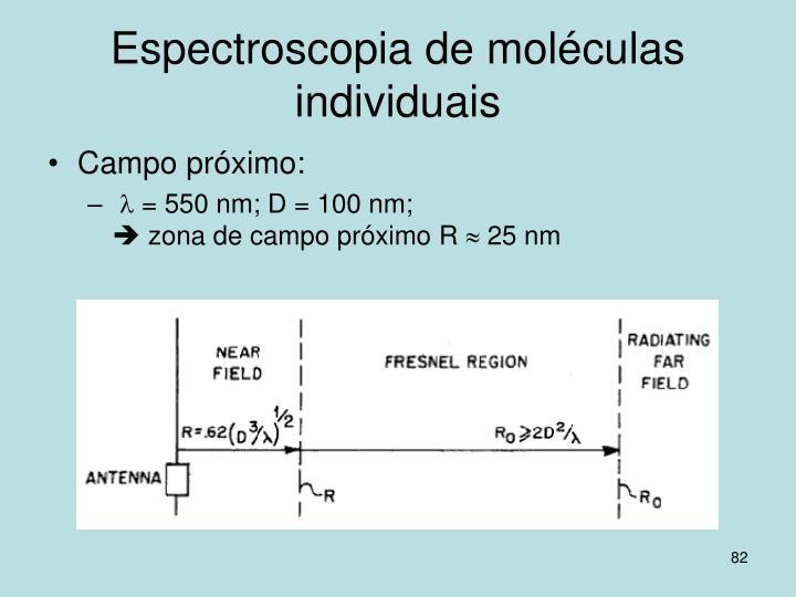 Espectroscopia de moléculas individuais
