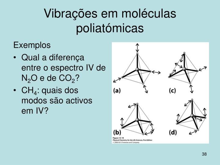 Vibrações em moléculas poliatómicas