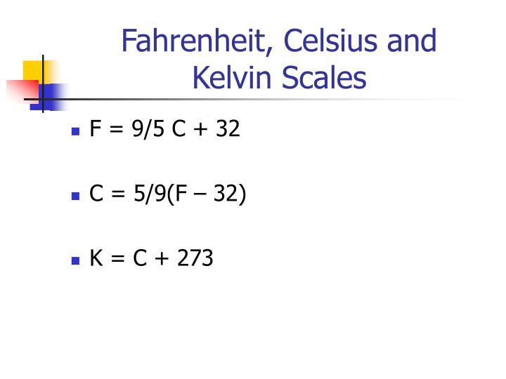 Fahrenheit, Celsius and