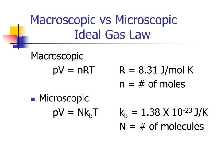 Macroscopic vs Microscopic