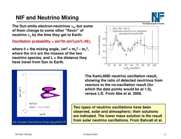 NIF and Neutrino Mixing
