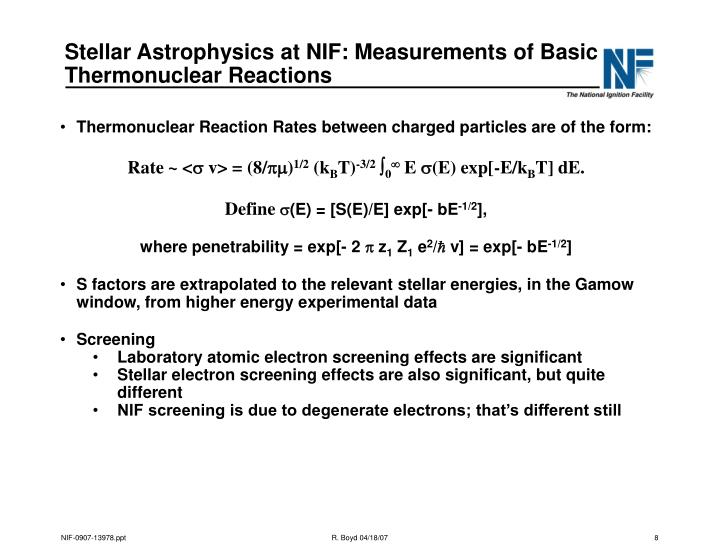 Stellar Astrophysics at NIF: Measurements of Basic Thermonuclear Reactions
