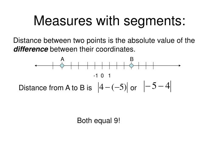 Measures with segments