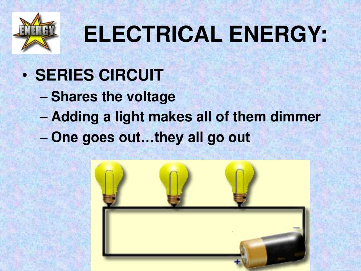 ELECTRICAL ENERGY: