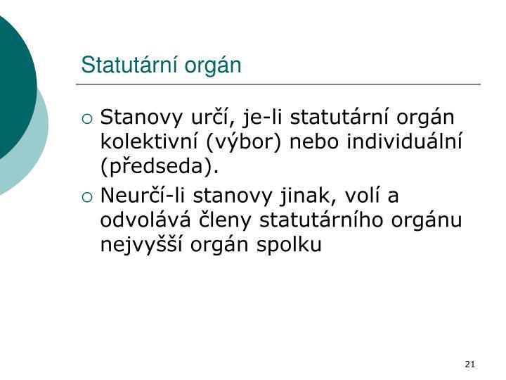 Statutární orgán