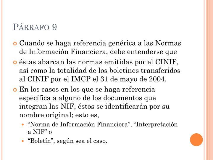 Párrafo 9