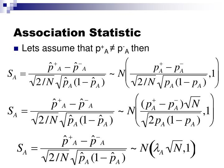 Association Statistic