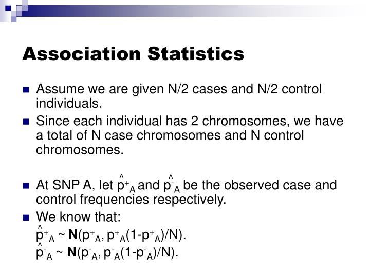 Association Statistics