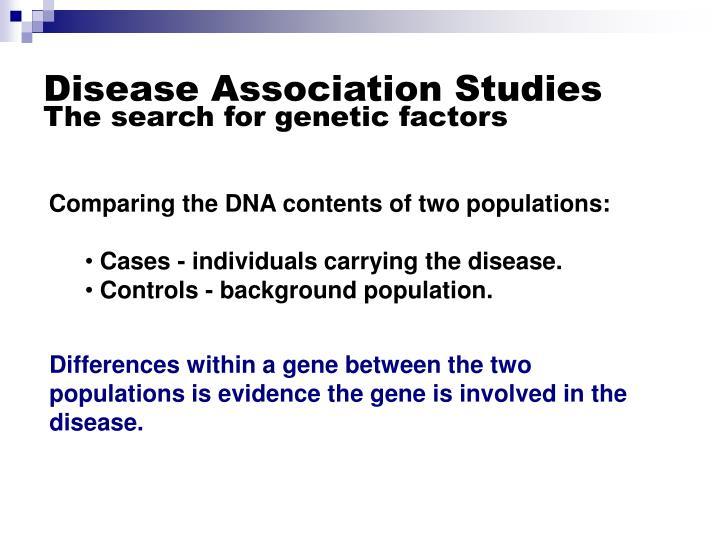 Disease Association Studies