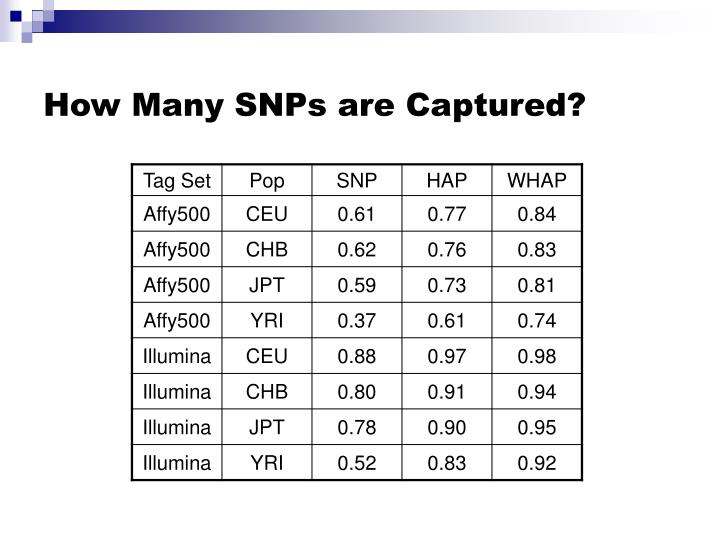 How Many SNPs are Captured?