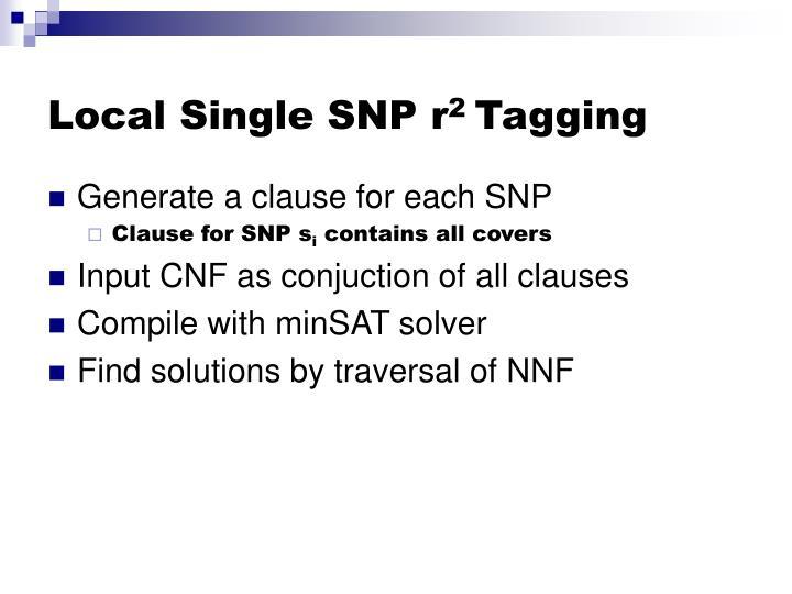Local Single SNP r