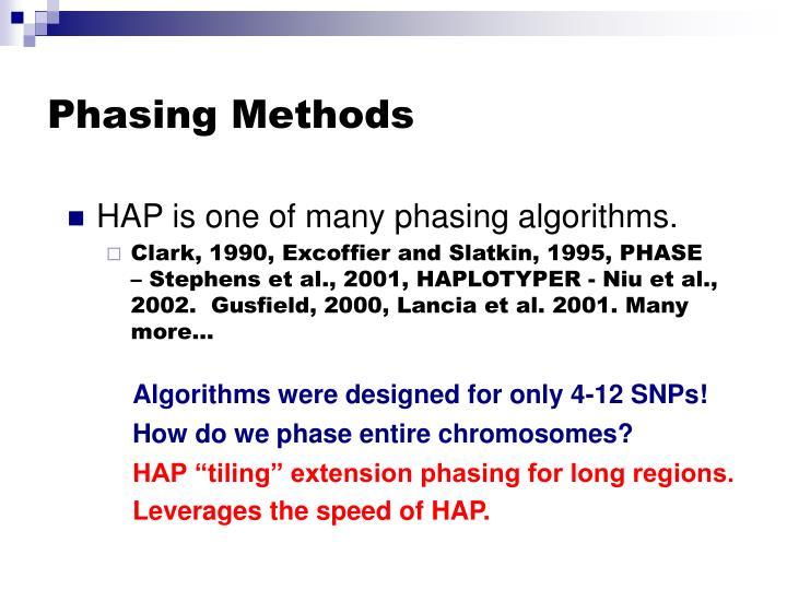 Phasing Methods