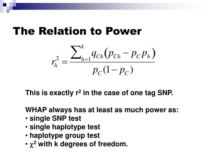 The Relation to Power