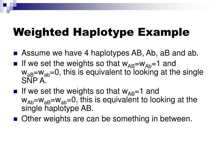 Weighted Haplotype Example