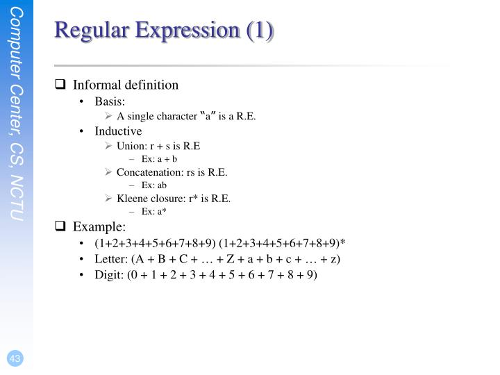 Regular Expression (1)