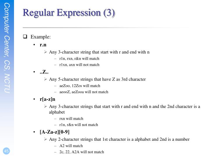 Regular Expression (3)
