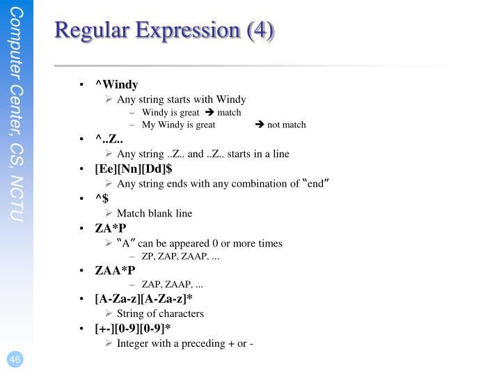 Regular Expression (4)