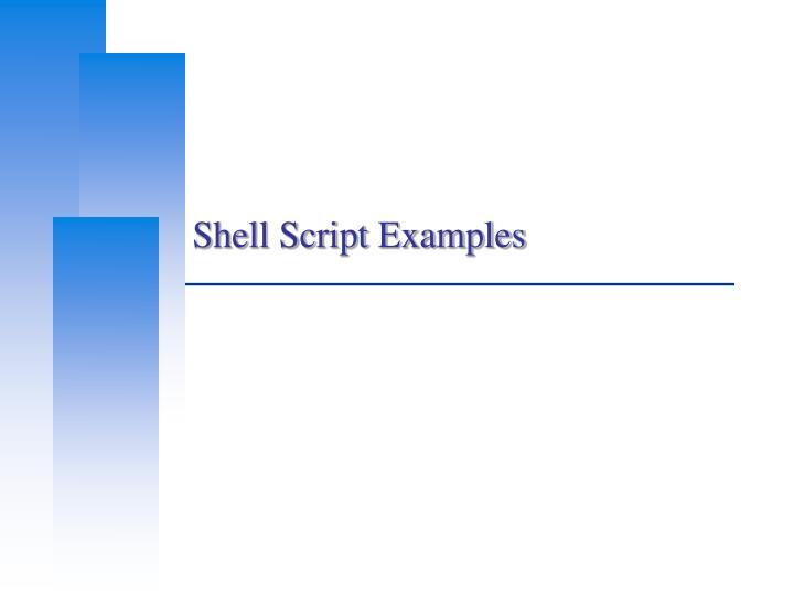 Shell Script Examples