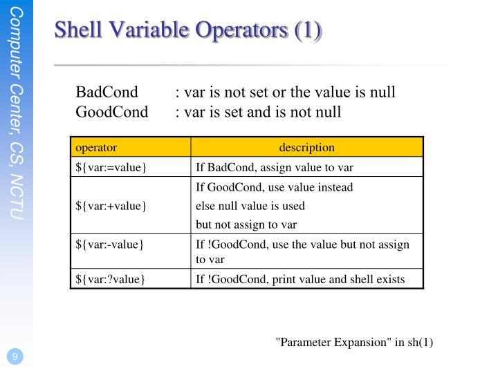 Shell Variable Operators (1)