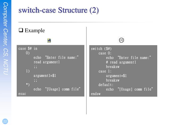 switch-case Structure (2)