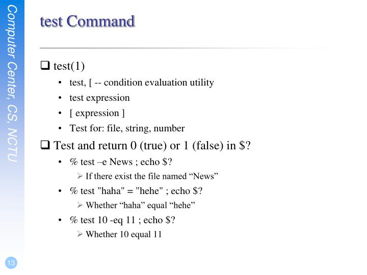 test Command
