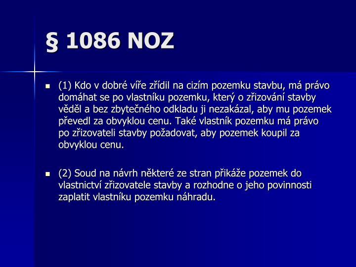 § 1086 NOZ