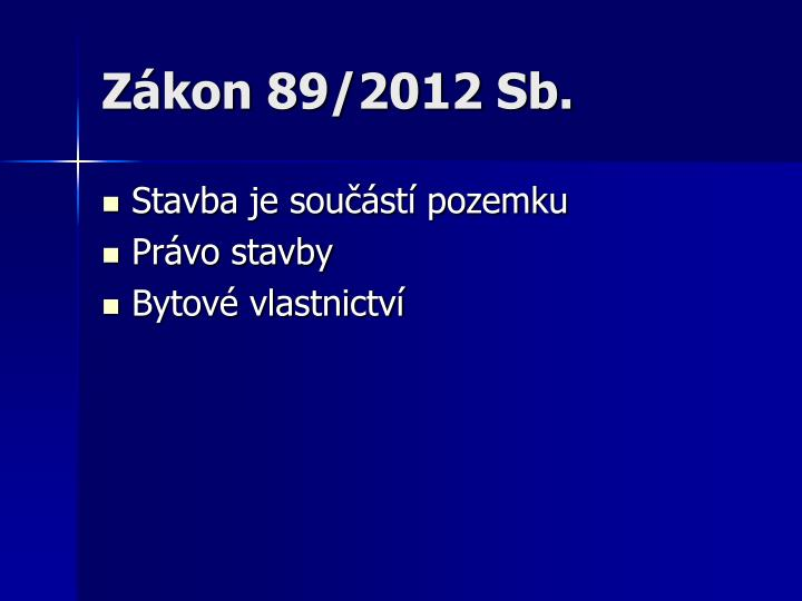 Zákon 89/2012 Sb.
