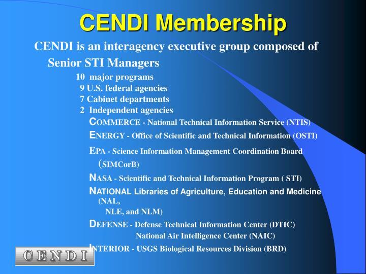 CENDI Membership