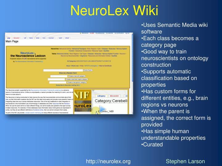 NeuroLex Wiki