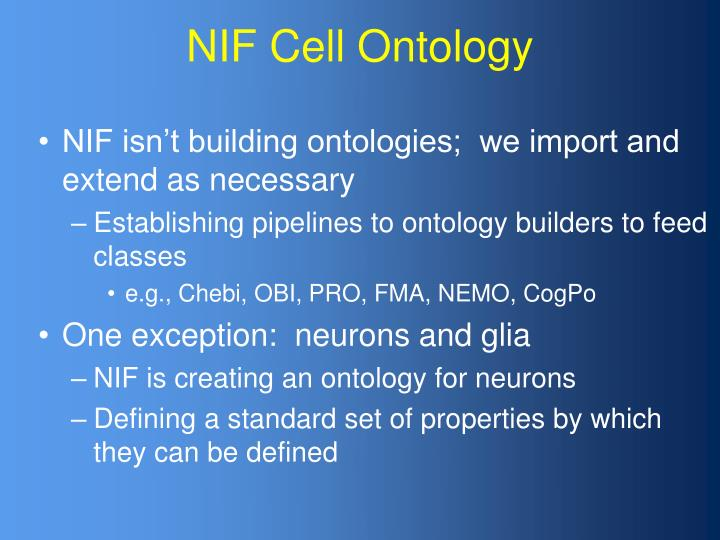 NIF Cell Ontology