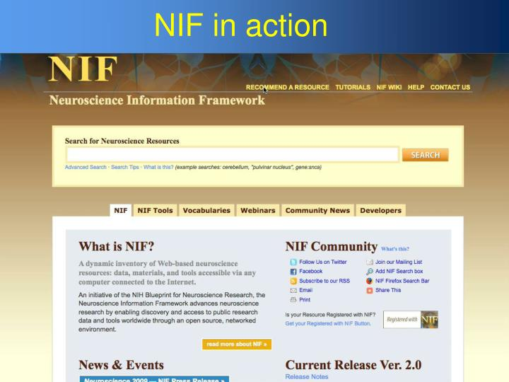 NIF in action