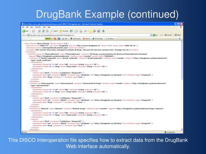 DrugBank Example (continued)
