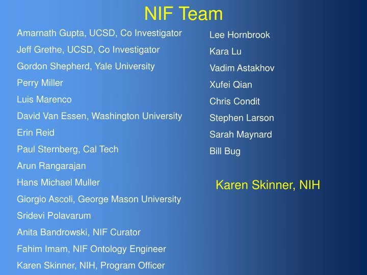 NIF Team