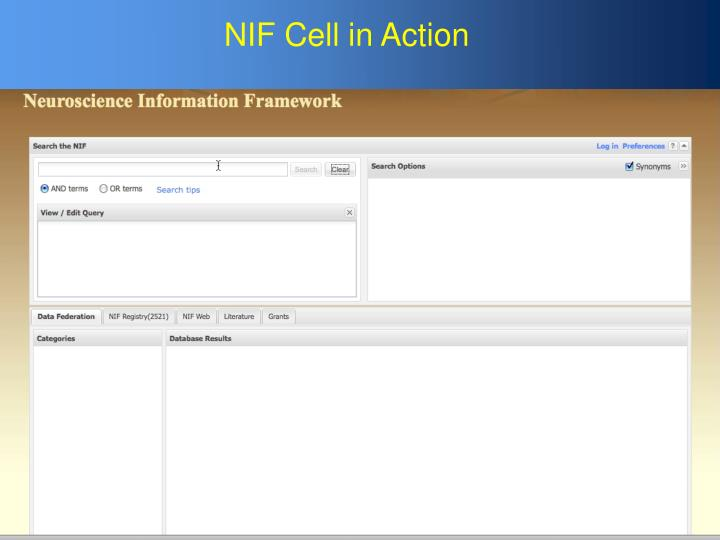 NIF Cell in Action
