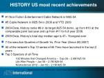 history us most recent achievements