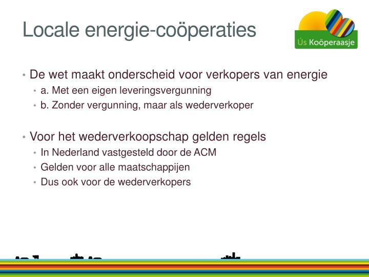 Locale energie-coöperaties